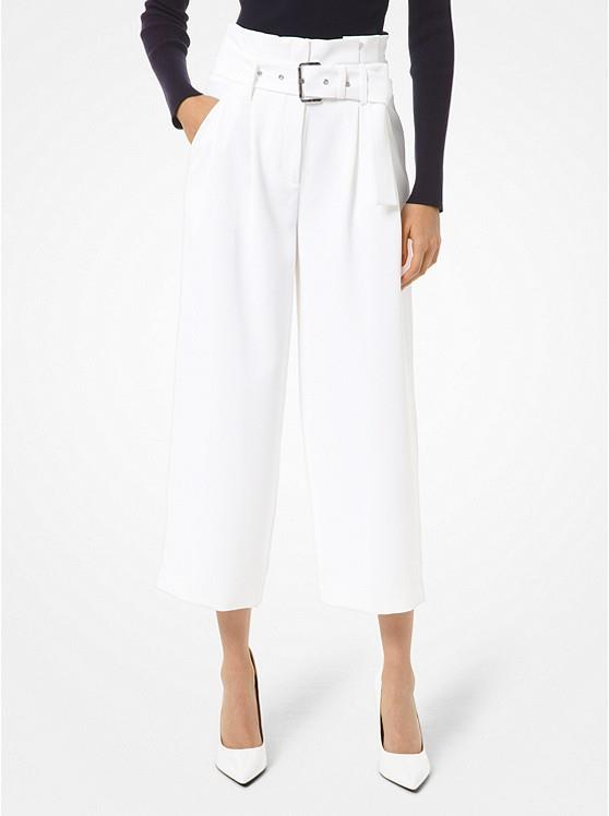 MICHAEL KORS - BELTED CREPE TROUSERS