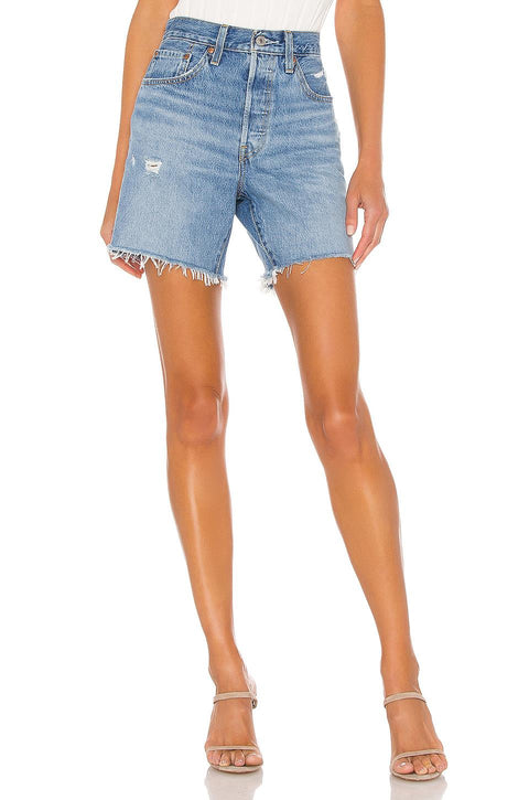 LEVIS- 501 MID-THIGH SHORTS