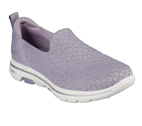 SKECHERS GO WALK 5 BRAVE PURPLE SIDE