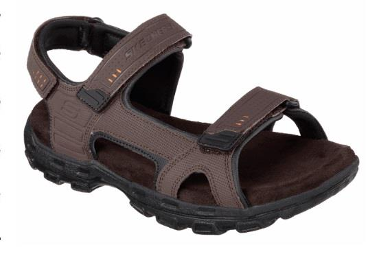 SKECHERS RELAXED FIT CONNER LOUDEN BROWN SIDE