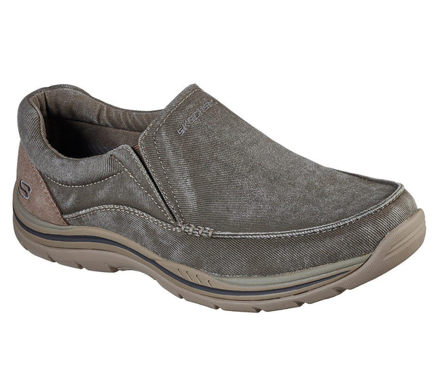 SKECHERS RELAXED FIT EXPECTED AVILLO KHAKI SIDE