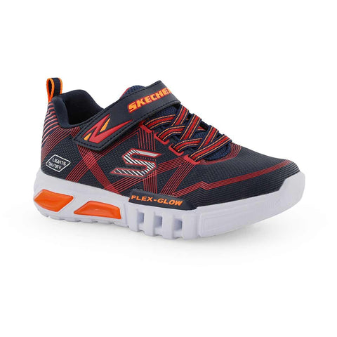 SKECHERS FLEX GLOW NAVY SIDE