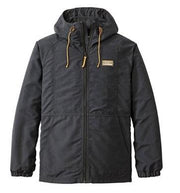 L.L.BEAN MOUNTAIN CLASSIC FULL-ZIP JACKET BLACK FRONT