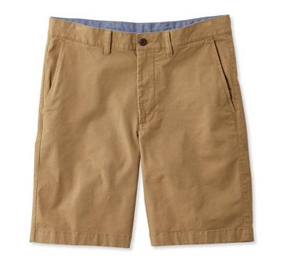 L.L.BEAN LAKEWAHSED STRETCH KAHKI SHORT TAN FRONT