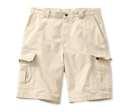 L.L.BEAN TROPIC WEIGHT CARGO SHORTS STONE FRONT