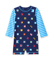 HATLEY - NAUTICAL FLAGS ONE PIECE RASHGAURD