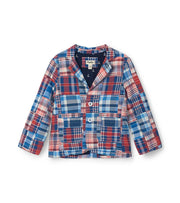 HATLEY MADRAS PLAID BLAZER NAVY PLAID BLACK