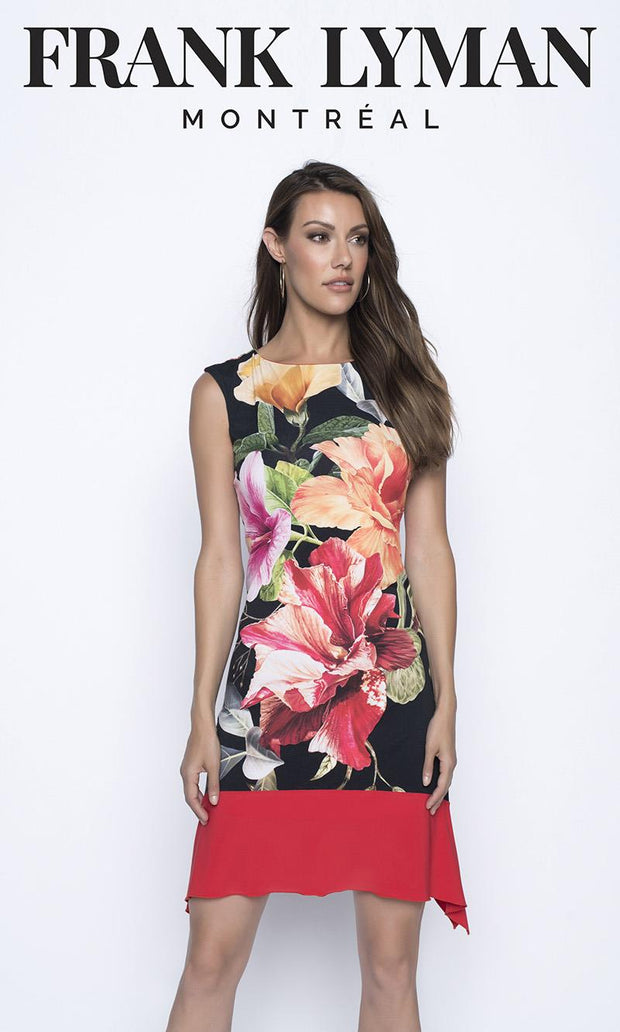 FRANK LYMAN - TROPICAL FLORAL DRESS