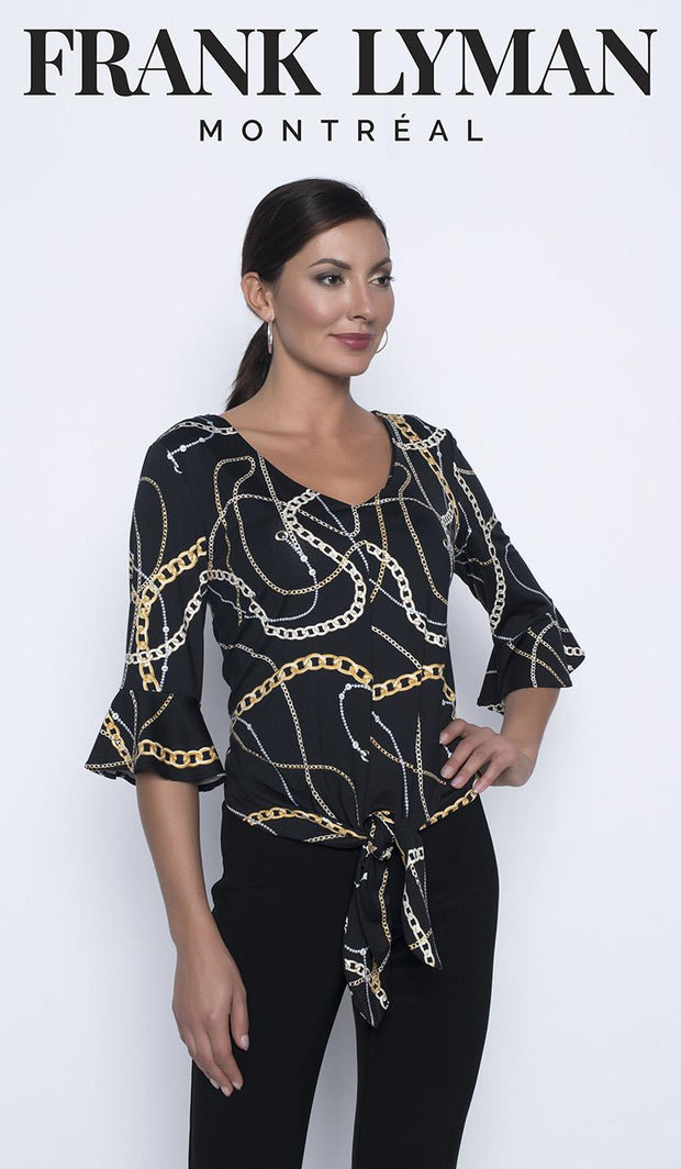 FRANK LYMAN - GOLD CHAIN PRINT TOP