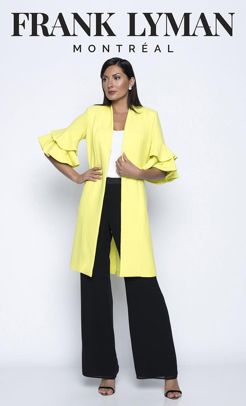 FRANK LYMAN 208245 JACKET YELLOW AND PINK