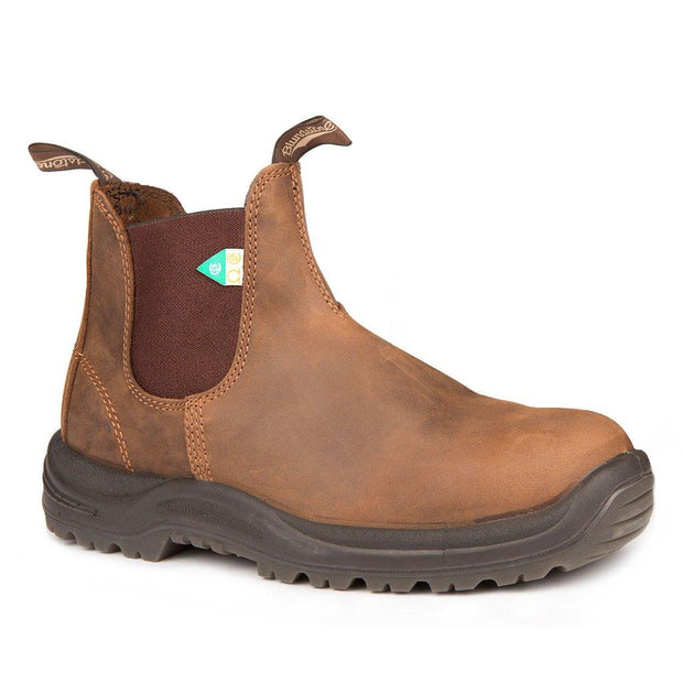 BLUNDSTONE- MEN'S 164- WORK & SAFETY BOOT CRAZY HORSE BROWN