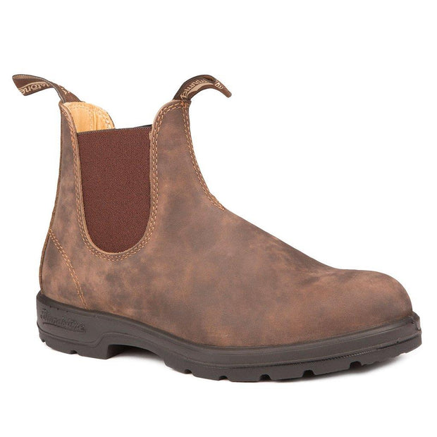 BLUNDSTONE- MEN'S 585- LEATHER LINED CLASSIC RUSTIC BROWN