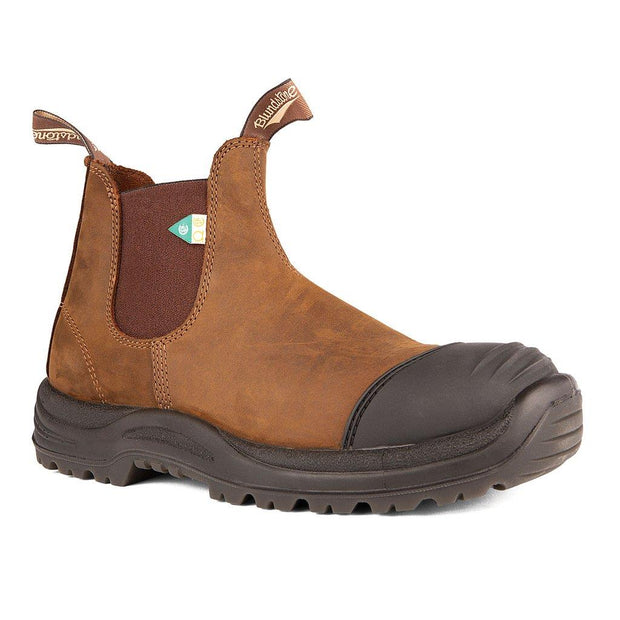 BLUNDSTONE- MEN'S 169- WORK & SAFETY BOOT RUBBER TOE CAP CRAZY HORSE