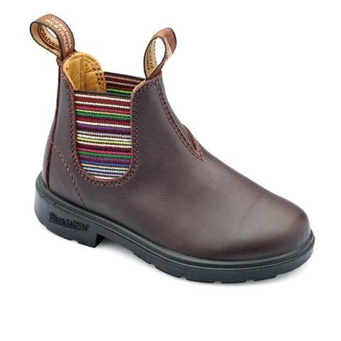 BLUNDSTONE - KIDS 1413 BROWN STRIPED ELASTIC