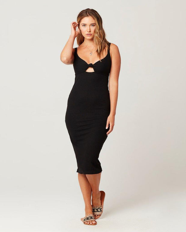 L*SPACE KAIA DRESS BLACK FRONT