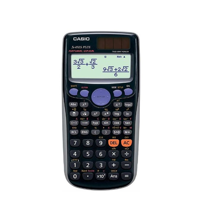 Casio FX-85ESPLUS Calculatrice Scientifique Avec 252 Fonctions - Noir