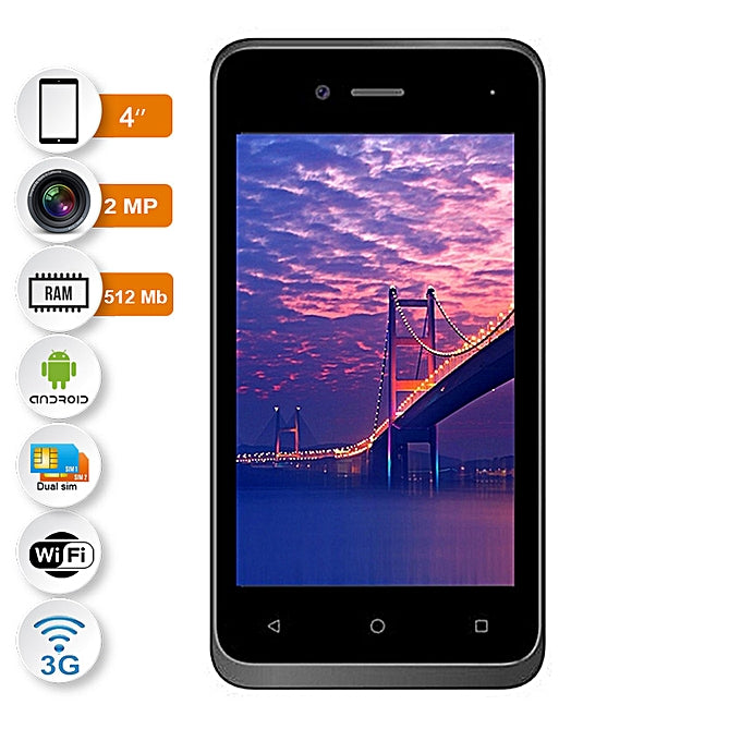 Nasco Warrior Black 3G Quad Core 512Mo RAM / 4Go - Noir