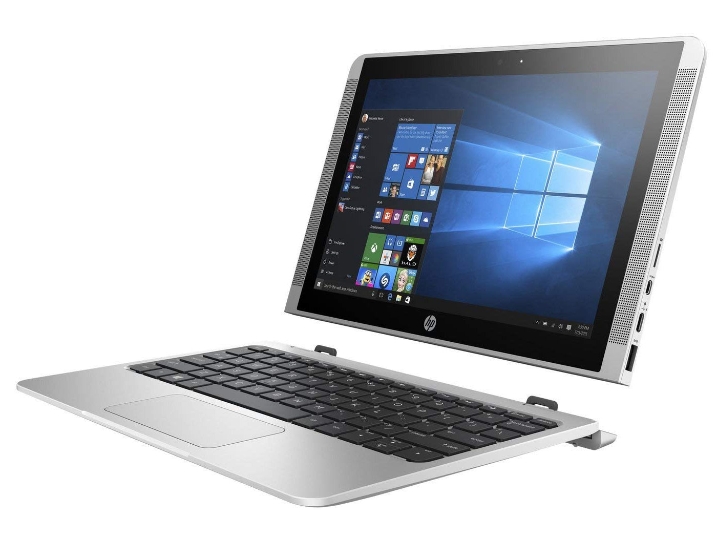 "Hp Ordinateur Portable - 10.1"" - X2 Detachable - Intel Atom - 4Go Ram - 64 Go - Argent"