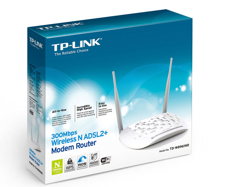 TP-Link ROUTEUR WIFI ADSL - N300 -BLANC