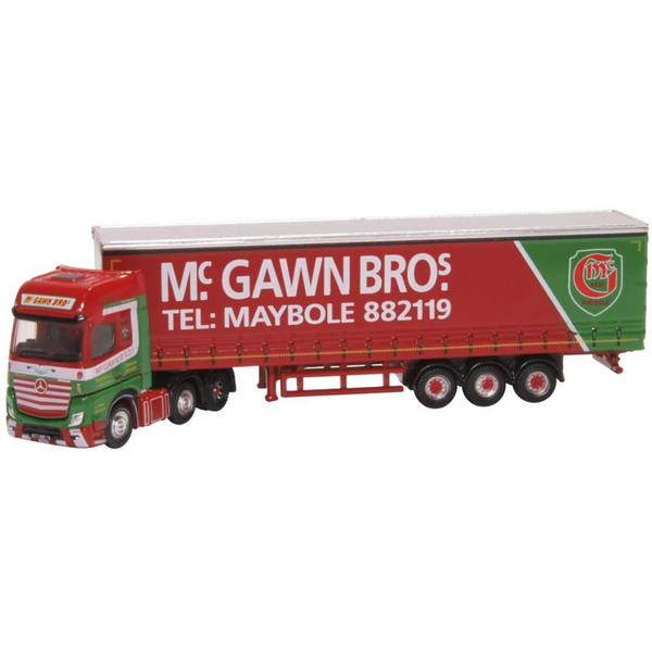 Oxford Diecast NMB007 Mercedes Actros Curtainside McGawn Bros