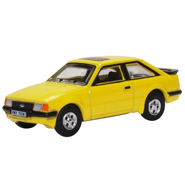 Oxford Diecast 76XR007 Ford Escort XR3i Prairie Yellow