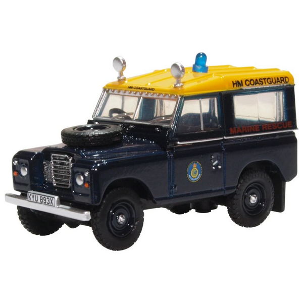 Oxford Diecast 76LR3S007 Land Rover Series 3 SWB Station Wagon HM Coastguard