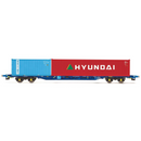 Hornby R6927 Tiphook, KFA Container Wagon, 93324 with 20' Maritime & 40' Hyundai Containers