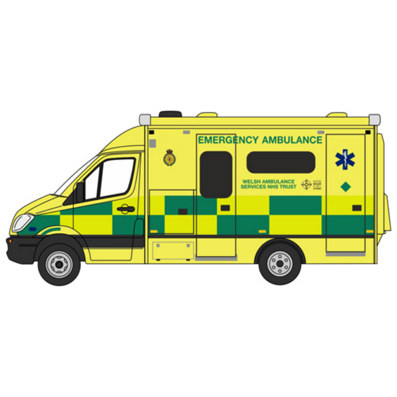 Oxford Diecast Mercedes Ambulance Wales