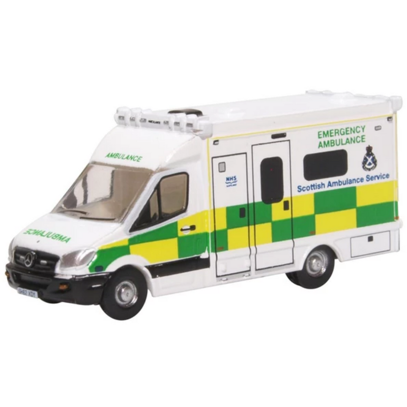 Oxford Diecast NMA004 Mercedes Ambulance Scottish Ambulance Service