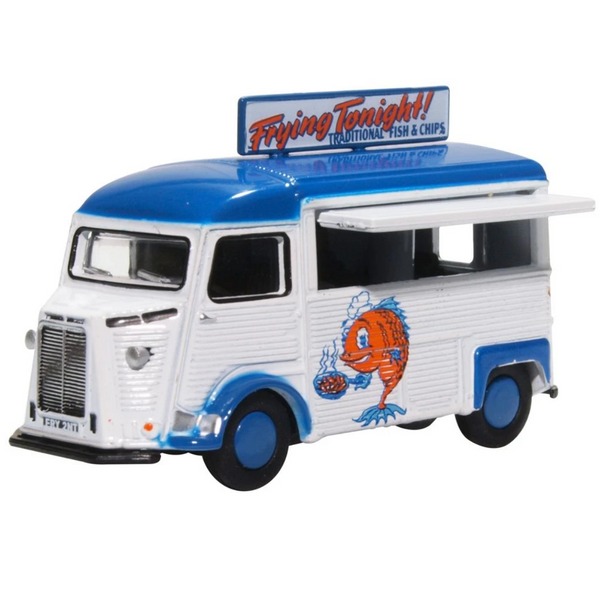 Oxford Diecast 76CIT005 Citroen H Catering Van Fish & Chips