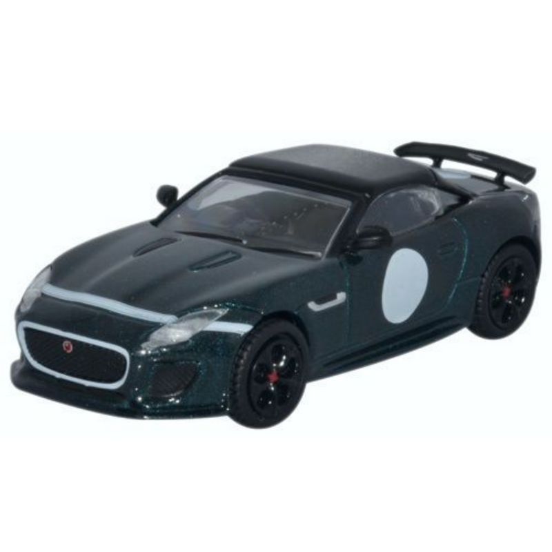 Oxford Diecast 76JFT001 Jaguar F-Type Project 7 British Racing Green