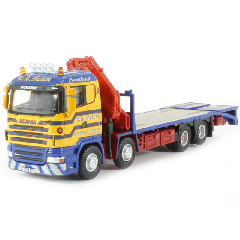 Oxford Diecast 76SCL001 Scania Crane Lorry D R Macleod