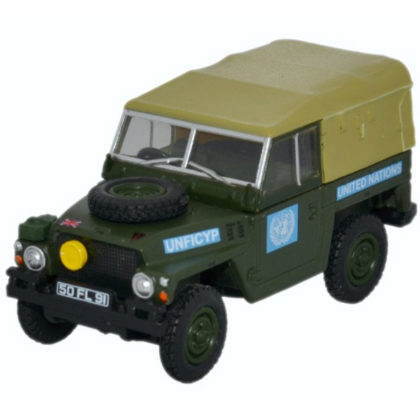 Oxford Diecast 76LRL001 Land Rover 1/2 Ton L/W - United Nations