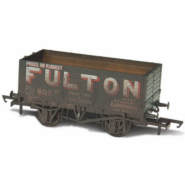 Oxford Rail Weathered 7 Plank Mineral Wagon - Fulton Coal