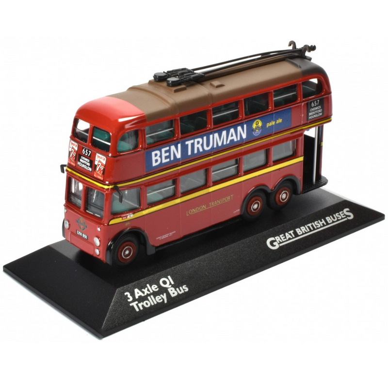 Atlas Editions 3 Axle QI Trolley Bus - London Transport