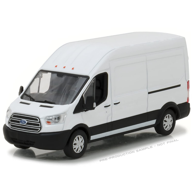 Greenlight 86083 2017 Ford Transit Extended Van High Roof - White