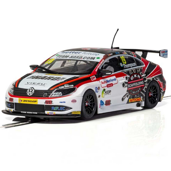 Scalextric C4016 VW Passat CC Team Hard BTCC 2018 - Bobby Thompson