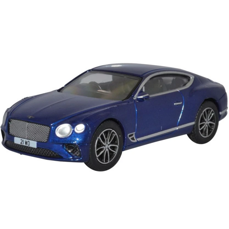 Oxford Diecast 76BCGT001 Bentley Continental GT Peacock Blue