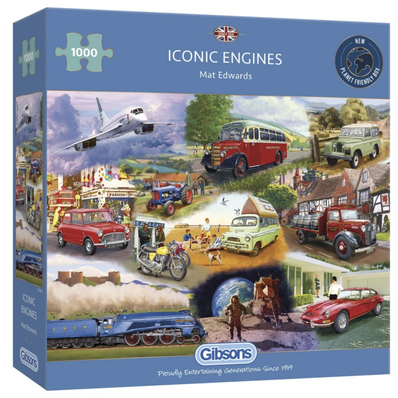 Gibsons Iconic Engines Jigsaw Puzzle
