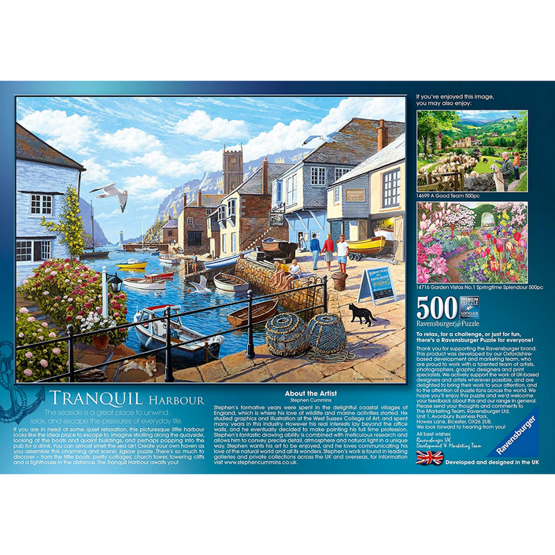 Ravensburger Tranquil Harbour Jigsaw Puzzle (500 Pieces)