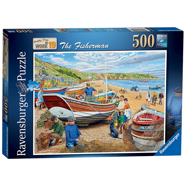 Ravensburger Happy Days at Work, The Fisherman Jigsaw Puzzle (500 Pieces)
