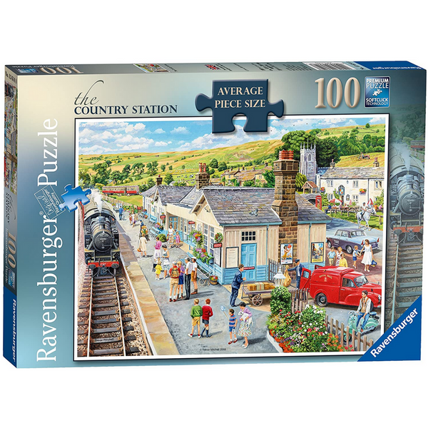 Ravensburger The Country Station Jigsaw Puzzle (100 Large Pieces)