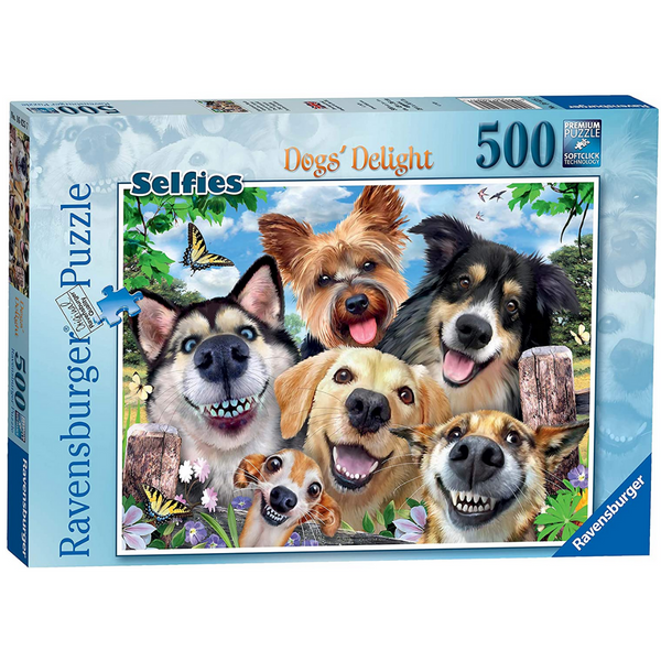 Ravensburger Selfies Dogs' Delight Jigsaw Puzzle (500 Pieces)