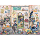 Ravensburger Crazy Cats Vintage, Knit One Purrl One Jigsaw Puzzle (500 Pieces)