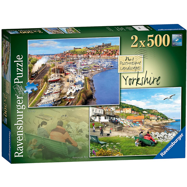 Ravensburger Picturesque Yorkshire, Whitby & Runswick Bay (2x 500 Pieces)