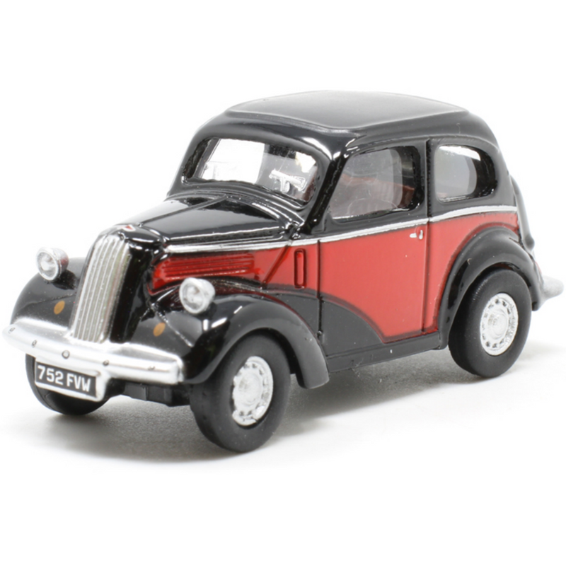 Oxford Diecast 76FP006 Ford Popular Red/Black
