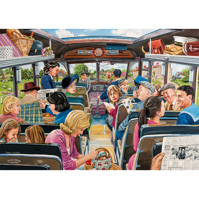 Gibsons The Country Bus (4x 500 Pieces)