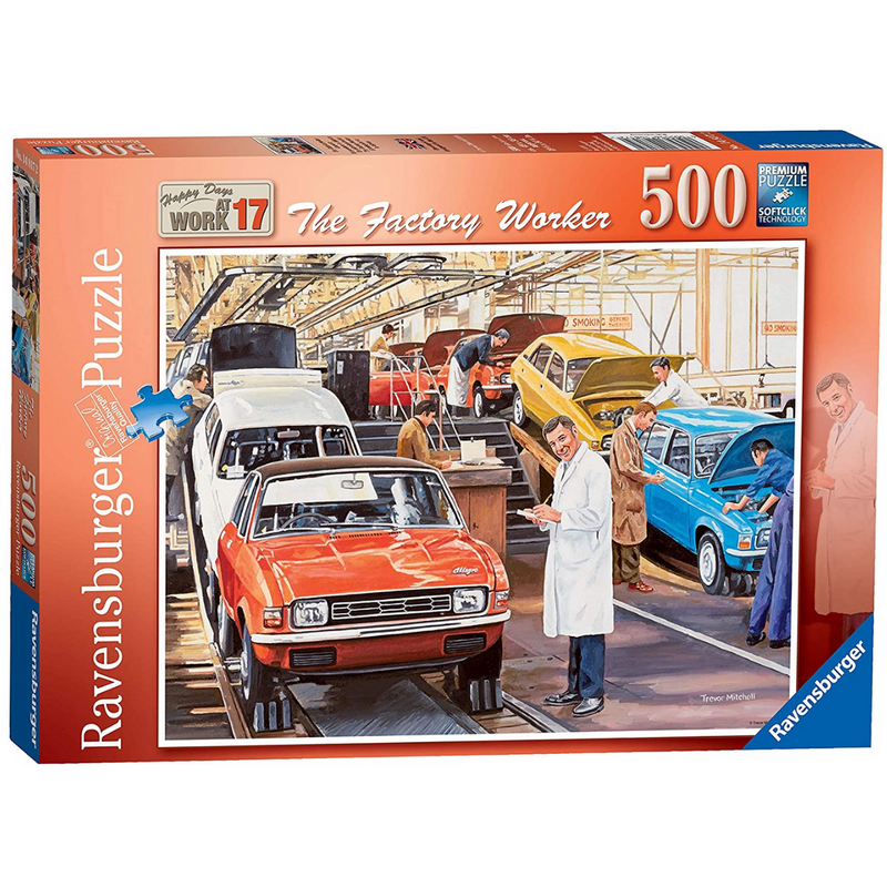 Ravensburger Happy Days at Work No.17 - The Factory Worker Jigsaw Puzzle (500 Pieces)