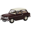 Oxford Diecast 76AA007 Austin A40 MKII Maroon Black & Snowberry White