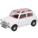 Oxford Diecast 76MN011 Austin Mini Cooper White Union Jack